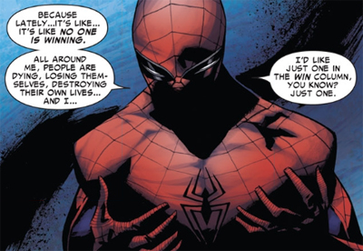 Spidey's really got it figured out, eh?