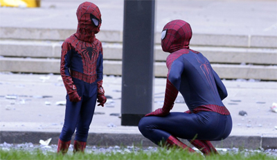 """I'll call you the amazing spider-boy!"""