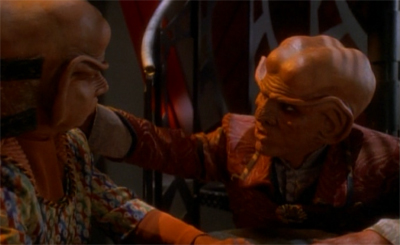 To be fair, Quark's general niceness is a pretty big hint that's something's afoot...