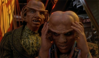 Far from music to Quark's ears...