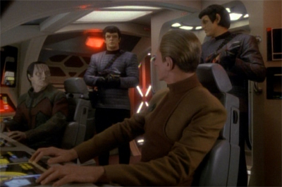 """See, this is why Sisko tries not to leave the station without the Defiant..."""