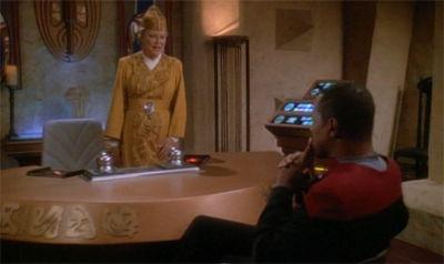 """I think this is a great idea, Kai; the last Bajoran civil war worked out so well for you..."""