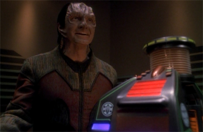 Interrogating Garak's motives...