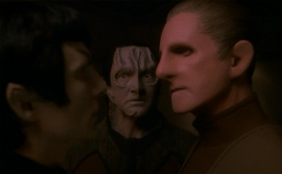 The juxtaposition of the Garak and Tain reunion with the Odo and Lovok reunion is a wonderfully subtle production touch...