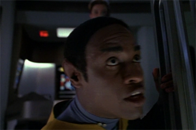 Janeway's so tough that shooting Tuvok doesn't phase her...