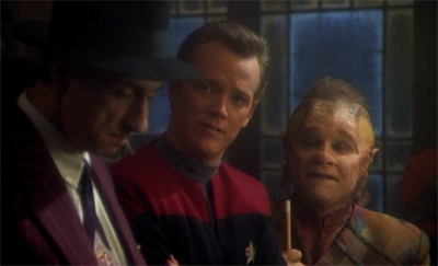 And that's Neelix's cue to exit...