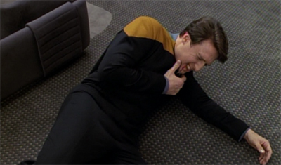 Chakotay's command style really floored him...