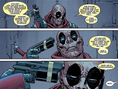 Dead pool enters the... dead pool...