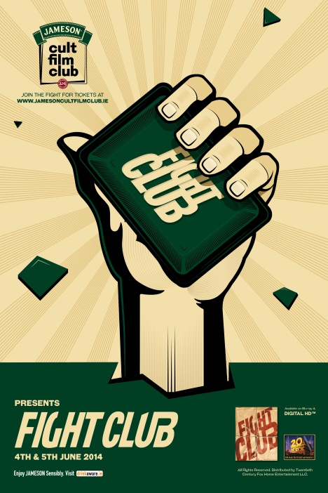 Jameson Cult Film Club screenings of Fight Club - June 4th and 5th - Dublin