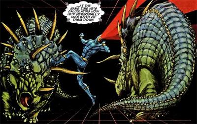 Cyclops walks the dinosaur...