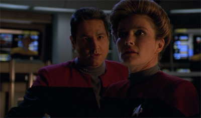 Chakotay seems to be really pushing the fraternisation thing, eh?