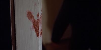 Red right handprint...