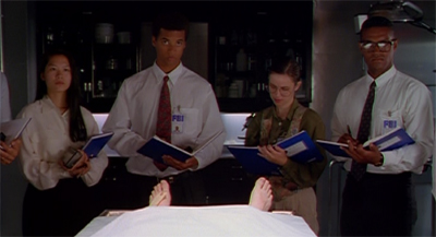 Scully has the FBI's students at her feet...