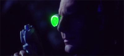 In fairness, wearing a glowing green eye patch on a pitch black planet probably isn't the best strategy...