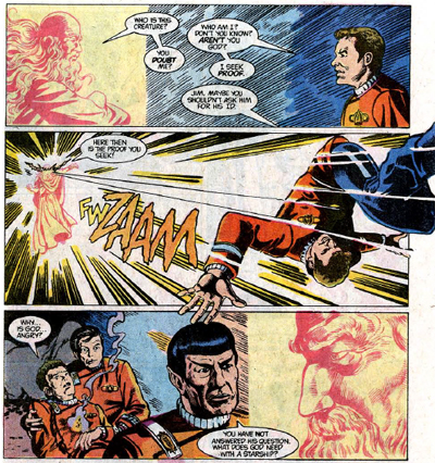 God: the only opponent capable of defeating William Shat-- er, I mean, Captain Kirk...