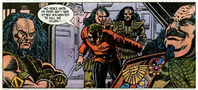 Given his attitudes towards Klingons, Kirk probably should spend less times on the bridge of Klingon Birds of Prey...
