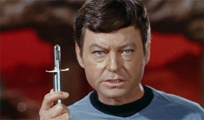 """I'm Leonard McCoy, and I endorse this tri-ox compound..."""