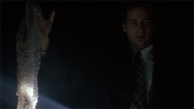 Mulder survives by the skin of his teeth...