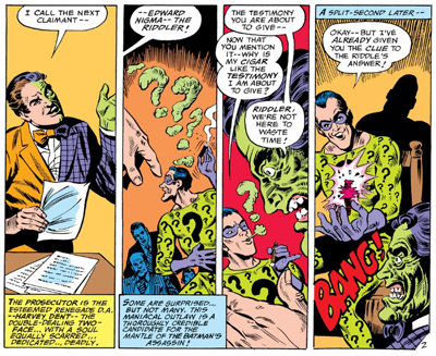 The Riddler's ambitions go up in smoke...