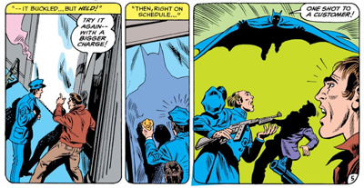 Batman drops in...