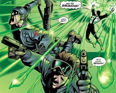 Green Lantern's light...