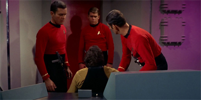 """He's unconscious."" ""But he's the one in the gold shirt!"" ""What do we do?"" ""I don't know! We're not trained for this!"""