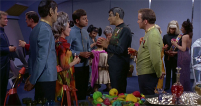 """So, the Andorian says to the Tellarite..."""