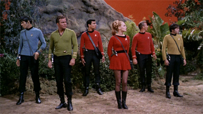 """Don't worry about the redshirts. We brought spares."""