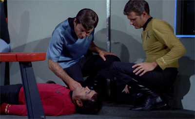 """""""Well, if we kept Scotty in this shirt long enough, it was bound to happen..."""""""