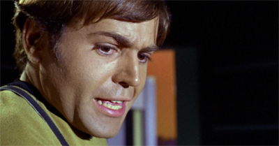 Chekov's visit to the planet surface is a scream...