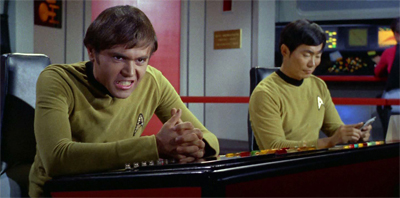 This is not a happy Chekov.