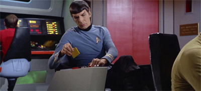 Spock couldn't participate in the drama on Argelius. He was too busy changing his data discs.