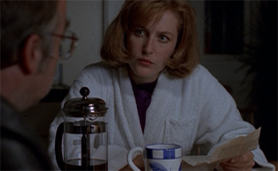 This sort of thing is not Scully's cup of tea at all...