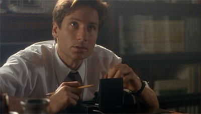 Mulder had to cut through quite some tape to get this case...