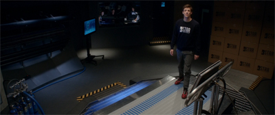 """Gee, this treadmill looks pretty cosmic..."""