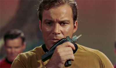 Kirk clearly wasn't paying attention during his phaser safety class...