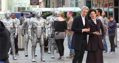 """Hm. It used to be a lot easier to inspire terror. Time was five Cybermen marching around St. Paul's Cathedral..."""