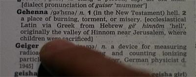 Gotta get to Gehenna...