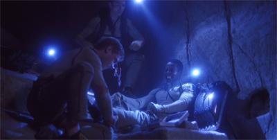 """When I said 'break a leg', Travis, I didn't mean it."""