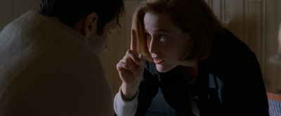 """Stay on point, Mulder!"""
