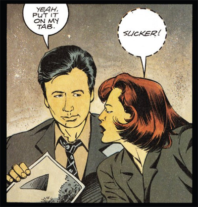 Scully could just as easily be talking about the people who forked out for the comic...