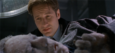 Mulder'd have to be pretty cold to make a pun right now... as cold... as ice.