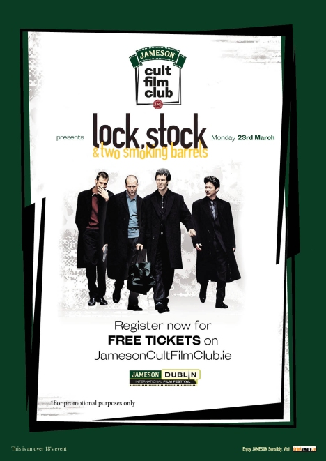 Jameson Cult Film Club screening of Lock, Stock and Two Smoking Barrels - 23.03.15