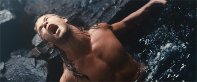 Obligatory shirtless Thor scene...