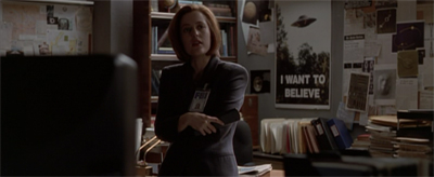 """Mulder, you left one of your tapes in the machine again."""