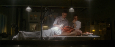 It is very weird to see a Scully-less autopsy...