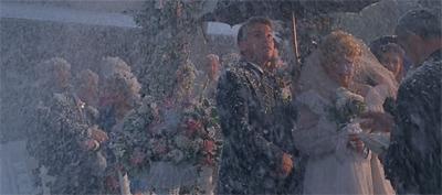 A white wedding...