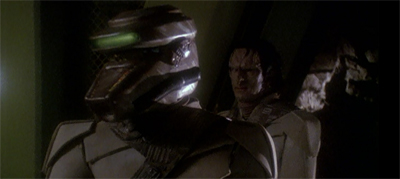 Never turn your back on a Cardassian in a Breen costume...