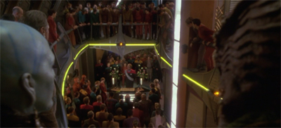 Sisko's memorial service was held to standing room only, for he shrewdly refrained from providing chairs.