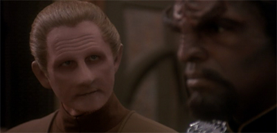"""There's only room for one outcast with conflicted loyalties on this station. Or two, if you count Quark. Or three, if you count Garak."""